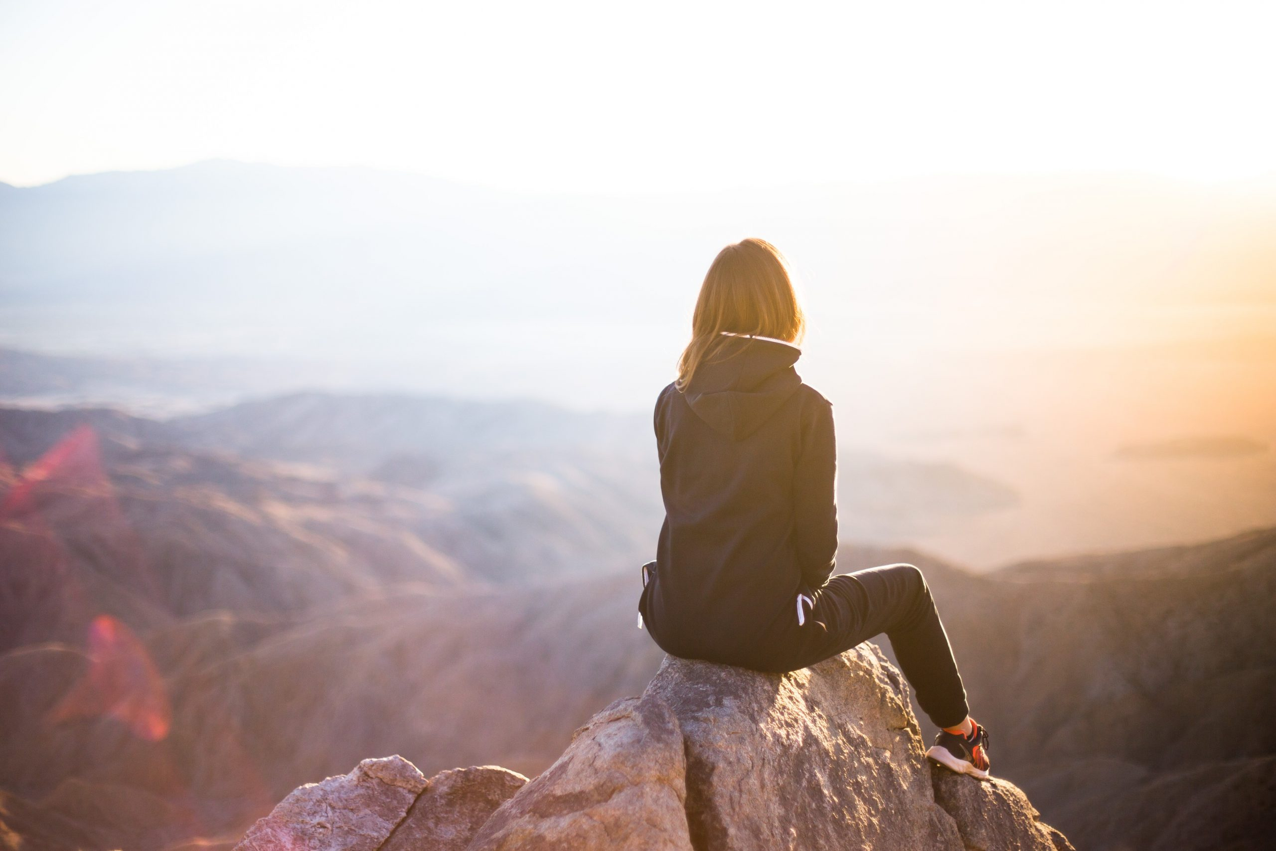 Picture of woman on mountain