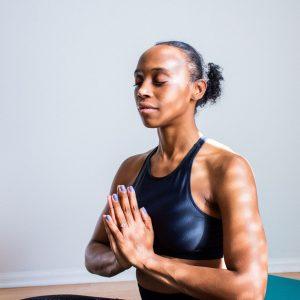 Person övar Mindfulness