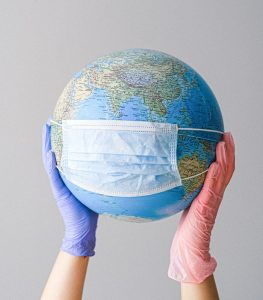 Globe with mask